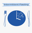 intermittent fasting concept with lettering vector image