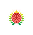 king brain logo vector image vector image