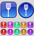 Kitchen appliances icon sign A set of twelve vector image vector image