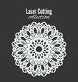 laser flower cut template frame floral vector image