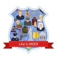 Law and Order Concept vector image vector image