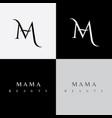 m letter beauty logo vector image