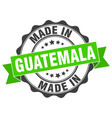 made in guatemala round seal vector image vector image
