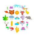 manifold icons set cartoon style vector image vector image