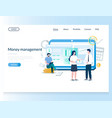 money management website landing page vector image