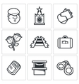 Newcomer migrant icons vector image vector image