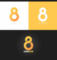number eight 8 logo design icon set background vector image vector image