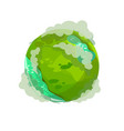 planet in smog on a white background vector image