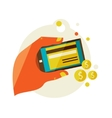 processing of mobile payments vector image vector image
