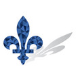 quebec province canada emblem fleur de lys vector image vector image