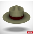 Ranger hat khaki green color vector image vector image