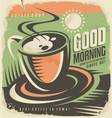 Retro poster design template for coffee shop vector image vector image