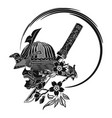 samurai 0009 vector image