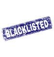 Scratched blacklisted framed rounded rectangle