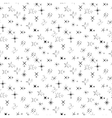 Seamless pattern with sparkles black silhouettes vector image