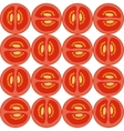 seamless tomato pattern vector image vector image