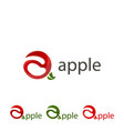 set logo apple sign abstract apple vector image