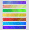 Set of colored web banner templates vector image vector image