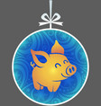 silhouette little pig vector image vector image