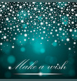 silver shining falling stars on turquoise ambient vector image vector image
