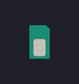 Sim card computer symbol vector image vector image