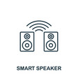 smart speaker outline icon creative design from vector image vector image