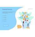 team of young businessmen plant a money tree vector image vector image