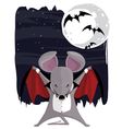 The Vampire Mouse vector image vector image
