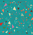 triangle confetti seamless repeat pattern design vector image vector image