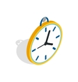 Wall clock with a loop icon isometric 3d style vector image vector image