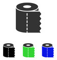 toilet paper roll flat icon vector image