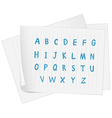 A paper with the complete letters of the alphabet vector image vector image