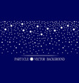 abstract falling snow particles dark blue vector image vector image