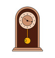 abstract old clock vector image vector image