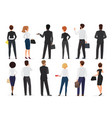 back view business office people group man and vector image vector image