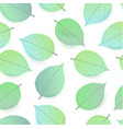 background seamless pattern of green leaves vector image