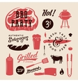 Barbecue Party Retro Labels or Symbols vector image vector image