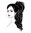 Beauty girl face sketch woman face vector image vector image