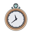 color graphic of stopwatch with thick contour vector image vector image