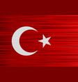 concept turkish flag red background and white vector image