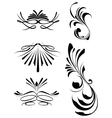 decorative swashes vector image vector image