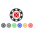 dice casino chip icon vector image