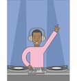 DJ with turntable vector image vector image