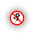do not pluck flowers sign vector image vector image