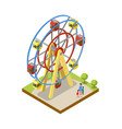 ferris wheel isometric 3d element vector image
