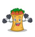 fitness kebab wrap character cartoon vector image vector image