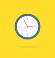 Flat Design Analog Clock vector image