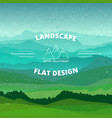 flat landscape textured beautiful vector image vector image