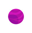 flat purple planet icon vector image vector image