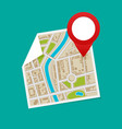 Gps map pointers on the map vector image